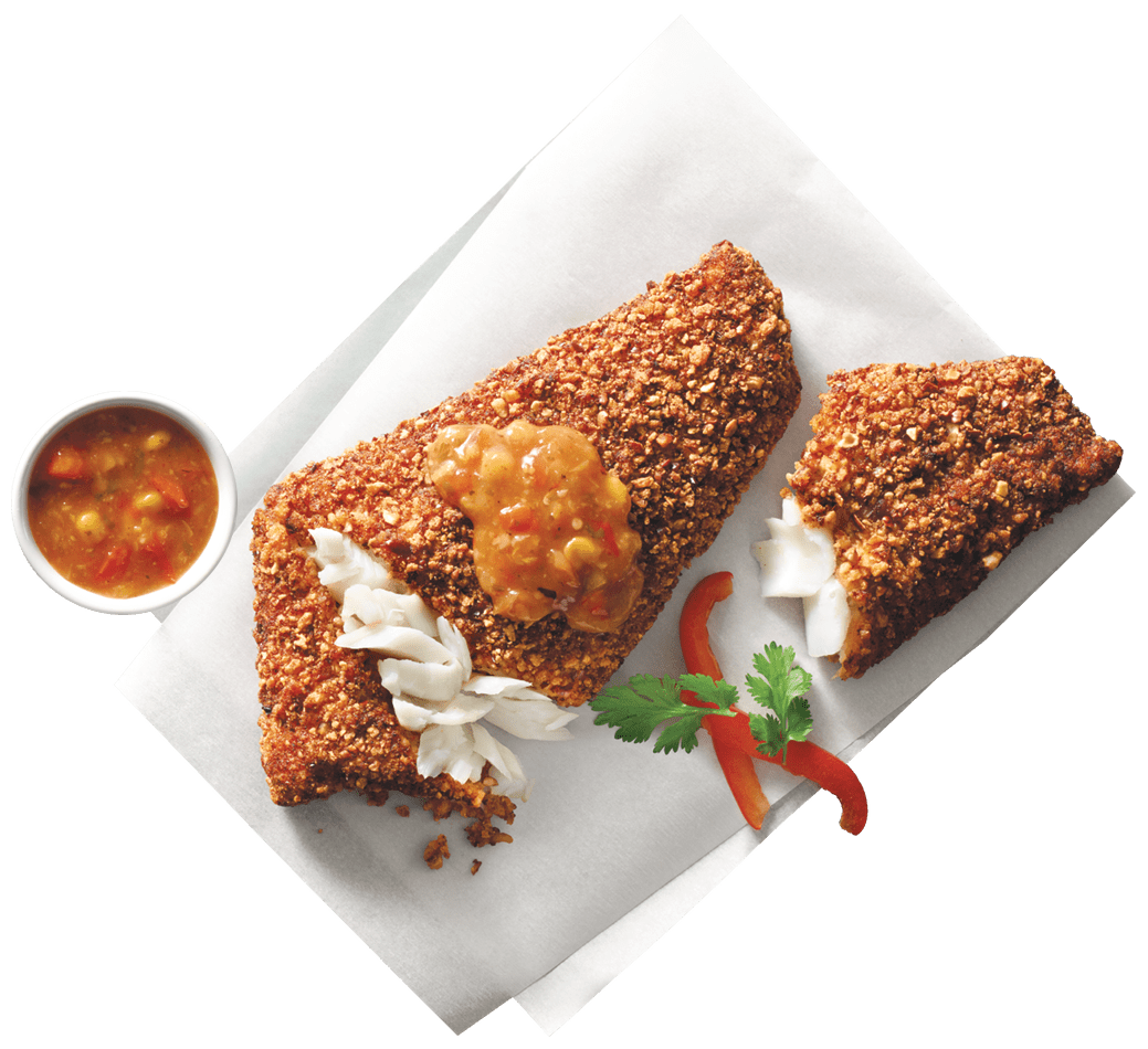 Inspired by our favorite frijoles negro (refried black bean) recipe, each flaky wild-caught cod fillet is lightly crusted with a blend of black beans, onion, garlic, jalapeño pepper, lime and spices. We hope you find it truly ¡delicioso!