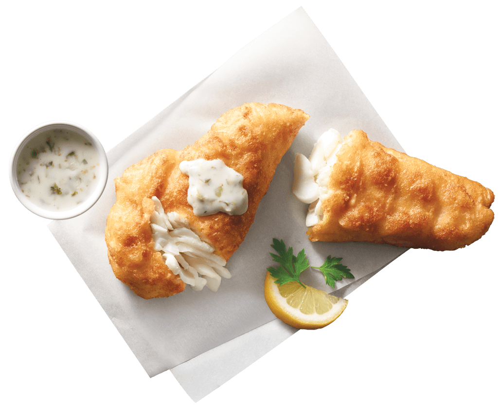 """Inspired by our favorite seafood shacks on Cape Ann in Massachusetts, each flaky wild-caught haddock fillet is lightly dipped in freshly mixed batter made with gluten-free blond ale for a crisp coating that will have you exclaiming, """"WICKED DELICIOUS!"""""""